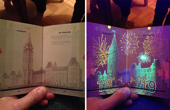 Canadian-Passport-Under-UV-Light