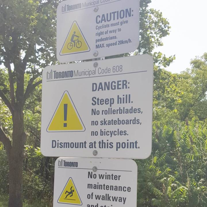 hill warning